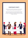 People Drinking and Talking Vector Illustration - 187978030