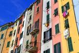 Palazzo e Case colorate a Porto Venere Liguria Italia Italia Europa Palace and Colored houses in Porto Venere Liguria Italy Italy Europe  - 187991486