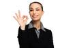 Businesswoman doing OK sign