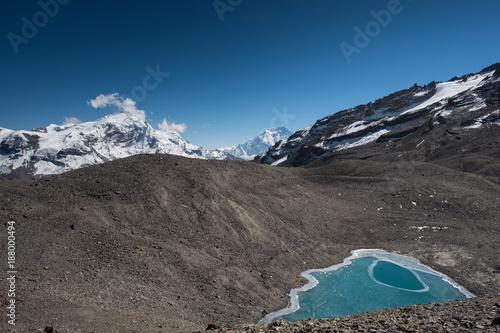 Foto op Canvas Nachtblauw Top lake