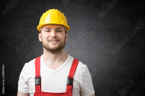 Happy worker smiling