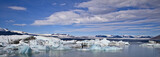Iceberg Lagoon dotted with icebergs from the surrounding glacier, Iceland. - 188003814