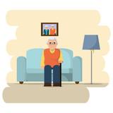 Grandfather cartoon design - 188007022