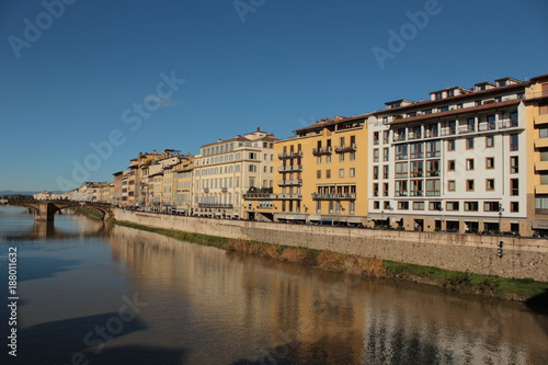 Poster Florence seen from the old bridge