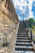 Steep stairs to the hill.