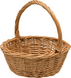 Wielkanocny kosz wiklinowy  - 188017869