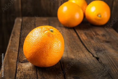 Foto Murales Fresh ripe oranges