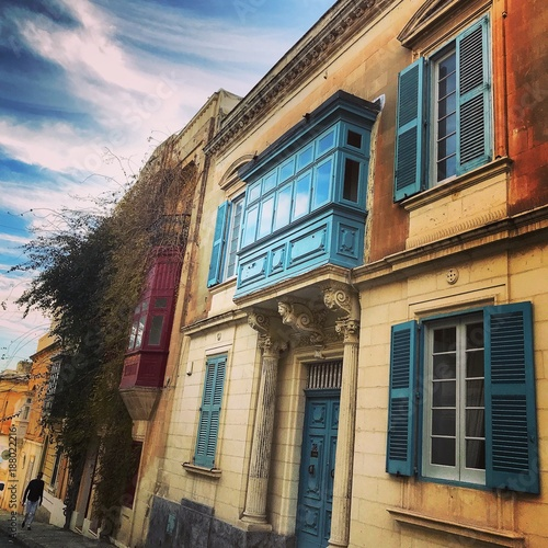 Foto Murales a blue window