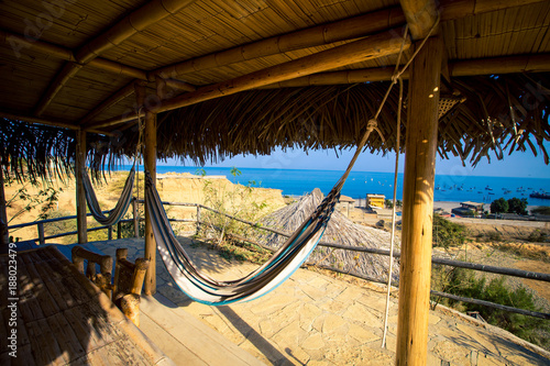 Foto Murales hammock at a beach house
