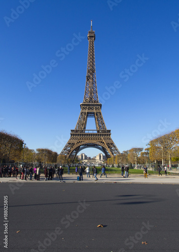 Sticker Eiffel Tower in Paris in Autumn