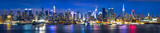 New York City Manhattan Skyline Panorama bei Nacht