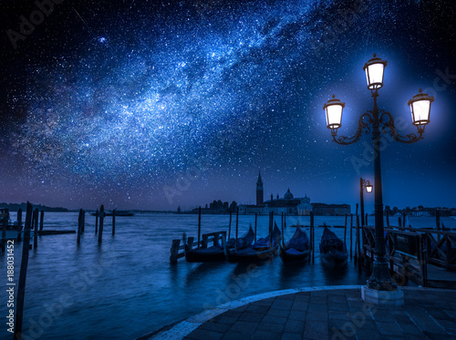 Venice Milky way over the Grand Canal in Venice, Italy