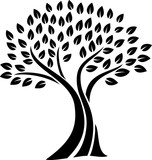 Tree silhouette icon - 188038833