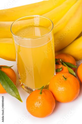 Foto op Plexiglas Sap juice multifruit in a glass
