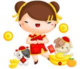 Girl Chinese New Year - 188050075
