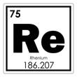 Rhenium chemical element