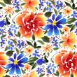 Watercolor flowers - 188061621