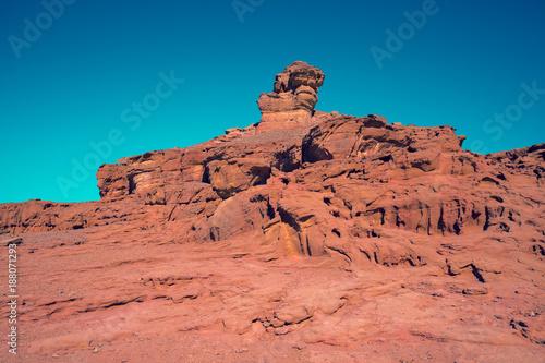 Fotobehang Zalm Sandstone rock in Timna park, Israel