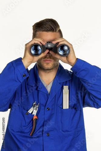 craftsman with binoculars - 188072610