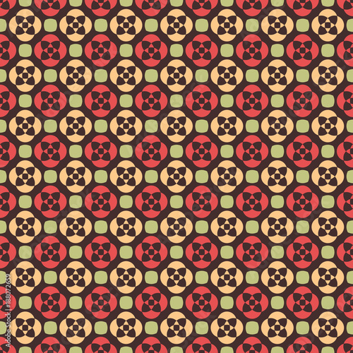 Abstract geometric seamless pattern on brown - 188072659