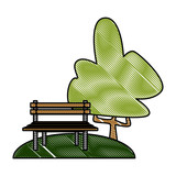 Chair in the park icon vector illustration graphic design - 188076466