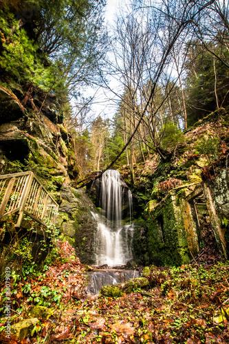 little waterfall in Saxon Switzerland - 188079839