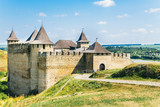 Medieval fortress in the Khotyn town West Ukraine - 188082604