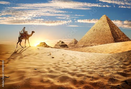 Fototapety, obrazy : Sunset in desert