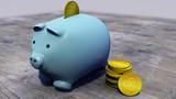 Ripple, xrp, criptovaluta, moneta elettronica, moneta virtuale, transizioni. Salvadanaio, maialino, risparmi