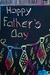Handwritten Fathers day card with colorful letters