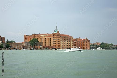 Poster Venetie View of Venice. Giudecca island. Region Veneto. Italy