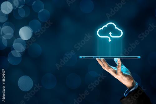 Foto Murales Cloud computing