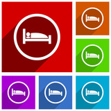 Hotel vector icons. Flat design colorful illustrations for web designers and mobile applications in eps 10 - 188098271
