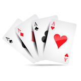 Ace card suit icon vector, playing cards symbols vector, set icon symbol suit, card suit icon sign, icon - vector illustration - 188099247