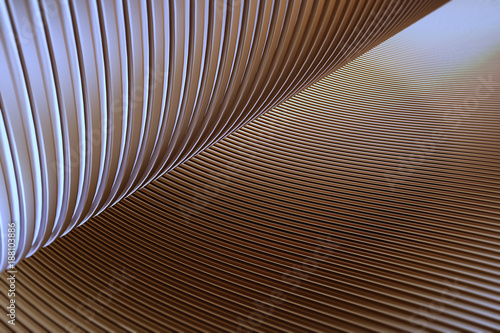 Fotobehang Abstract wave Wave band abstract background surface 3d rendering,metal stripe pattern background.