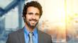 Young smiling businessman portrait