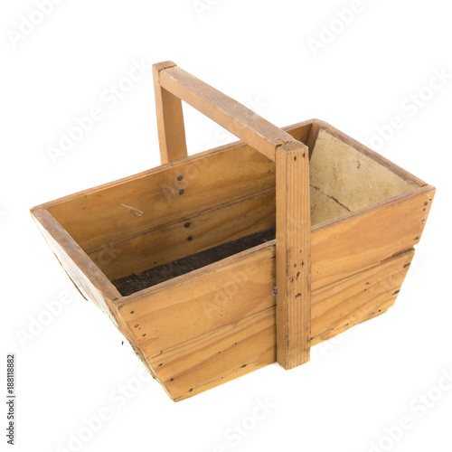 Foto Murales Old wooden harvest basket