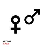 Web line icon. Gender symbol, Symbols of men and women - 188121418