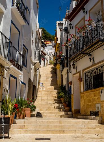 Poster Smal steegje narrow Spanish streets