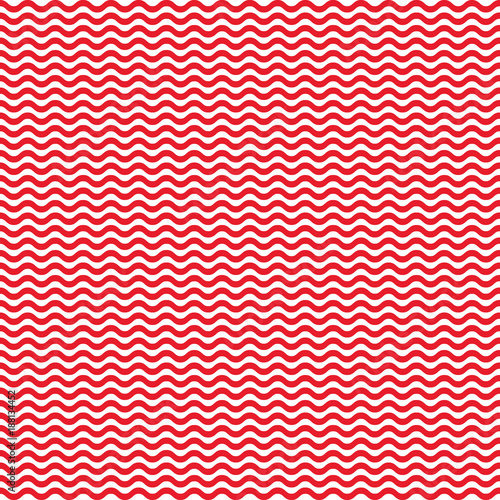 Red waves seamless pattern. Vector illustration.