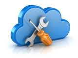 Screw Driver and Wrench with Cloud