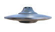 UFO - alien spaceship isolated on white background. 3D rendered illustration.