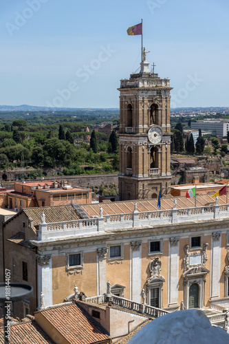 Foto op Plexiglas Cyprus Panoramic view of City of Rome from the roof of Altar of the Fatherland, Italy