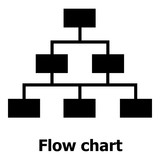 Flow chart icon, simple style. - 188149286
