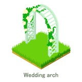 Wedding arch icon, isometric style. - 188150834
