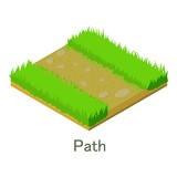 Path icon, isometric style. - 188151251