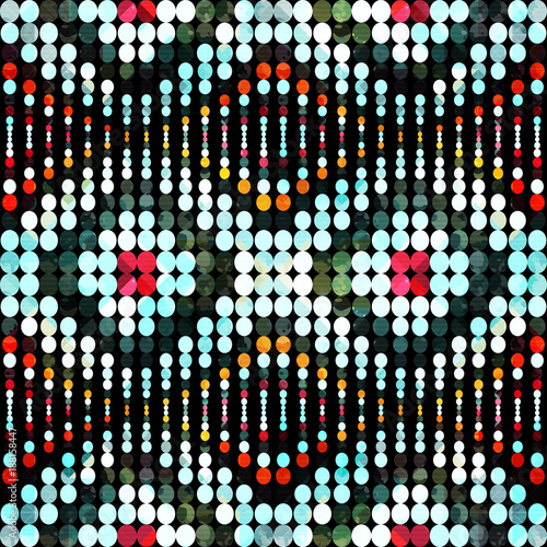 Cotton fabric Bright abstract geometric seamless pattern in graffiti style. Quality vector illustration for your design