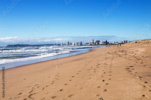 Fridge magnet Coastal Landscape Against Blue Sky in Durban South Africa