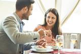Couple enjoying pasta - 188167433