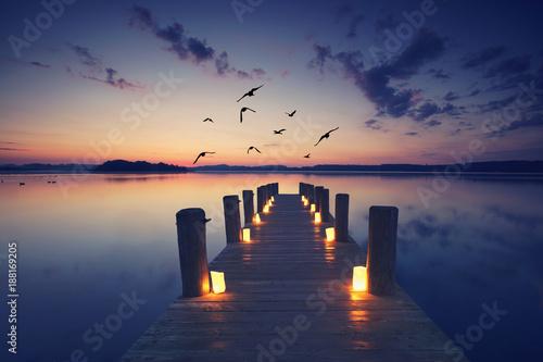 Lampen am Bootssteg © Jenny Sturm